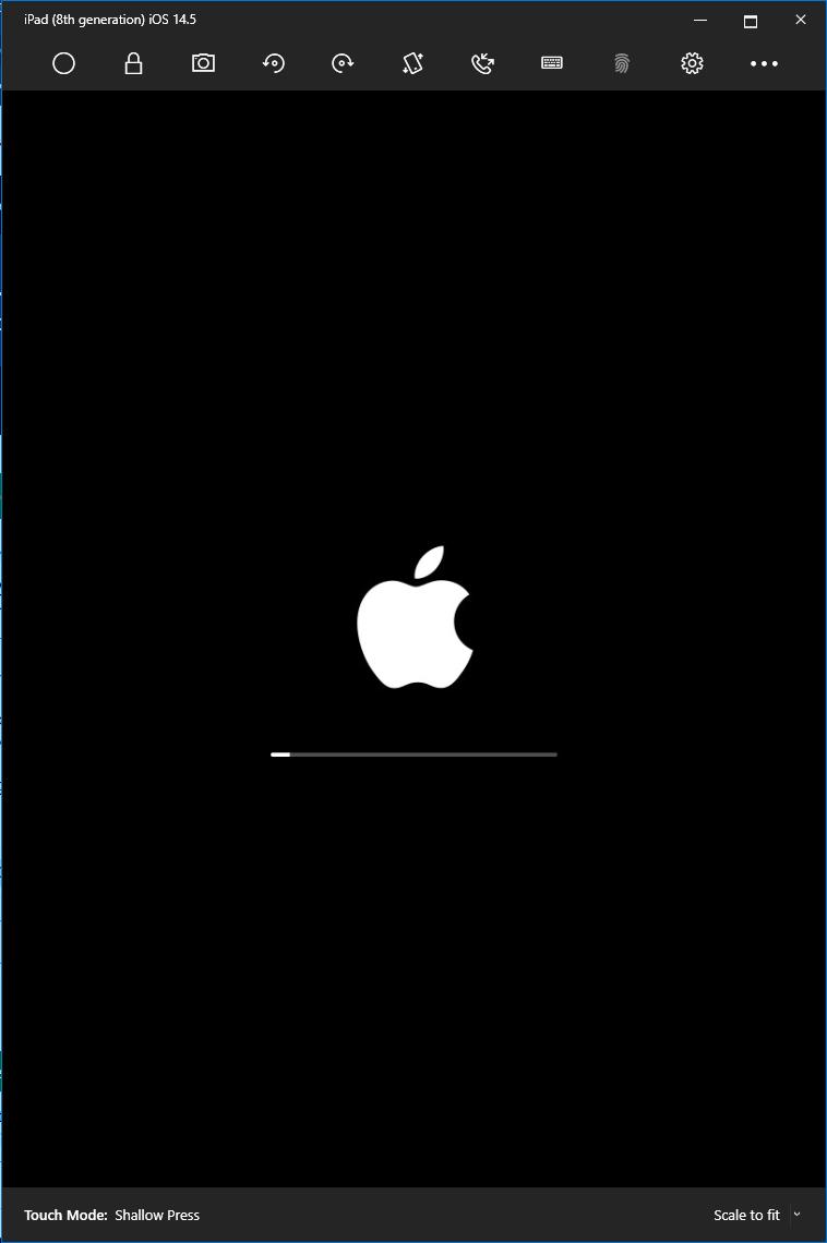 Apple iPad Emulator Launching